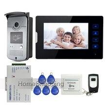 Apartment 7 Color Touch Screen Video font b Door b font Phone Intercom 1 RFID Access