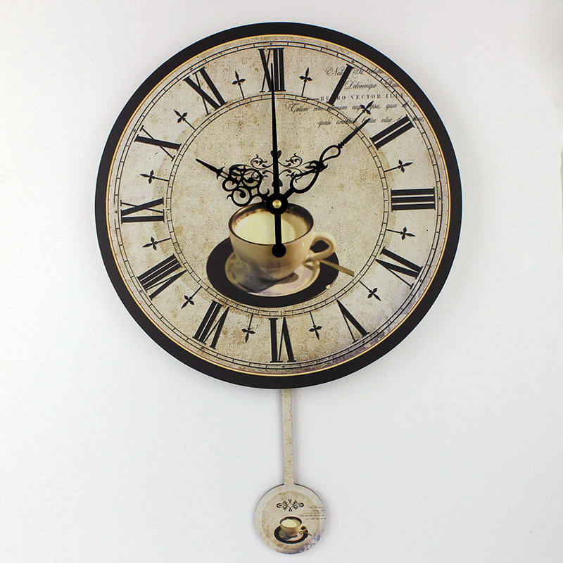 Modern Coffee Large Decorative Wall Clocks Mute Home Decoration Kitchen  Wall Clock Fashion Wall Watches Orologi