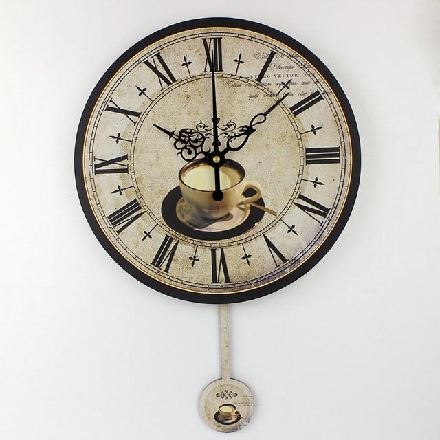 Aliexpress.com : Acquista Caffè moderno grandi orologi da parete ...