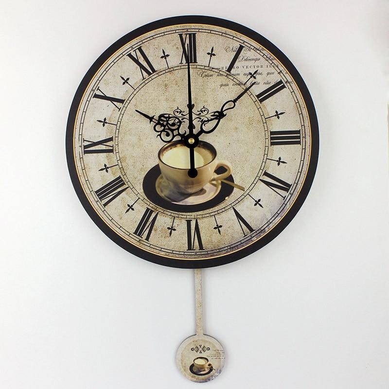 Compra grandes relojes de pared de la cocina online al por - Reloj cocina diseno ...