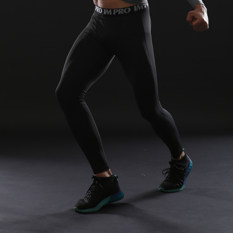 Trousers Male Leggings Skinny Clothing Compression-Tights-Pants Elastic Slim Fitness