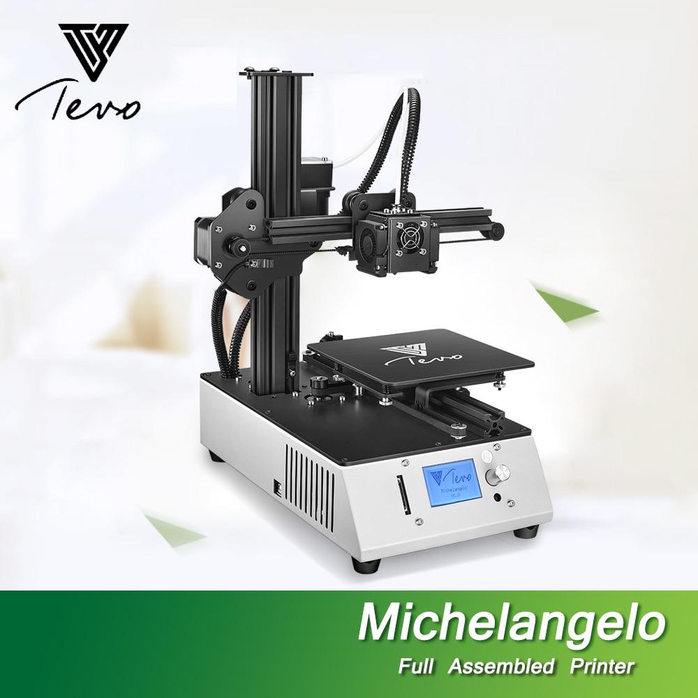все цены на 2018 NEW TEVO Michelangelo Impresora 3D Printer Fully Assembled 3D Printer Kit Full Aluminum Frame Titan Extruder Imprimante 3D онлайн