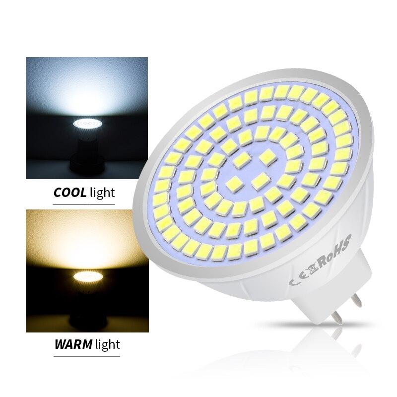 WENNI 10PCS E27 Spotlight LED Bulb 220V GU10 LED Lamp E14 Corn Lamp MR16 Spot Light Bulb GU5.3 48 60 80leds Ampoule B22 2835 SMD