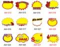 50 шт. продажа скидка ПОП Взрывных карты рекламные знак ценник тег знак бумажную тарелку