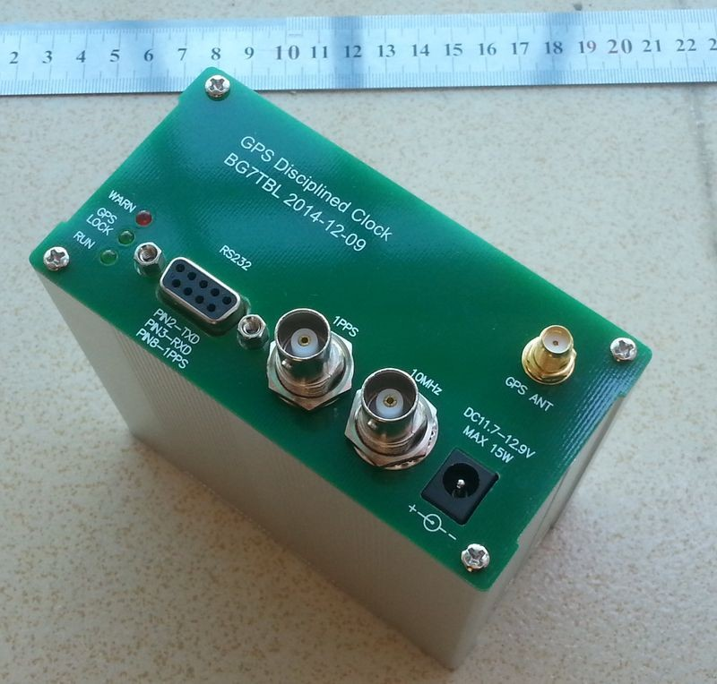 1pcs New arrival SINE WAVE GPS DISCiPLINED CLOCK GPSDO 10MHZ OUTPUT free shipping