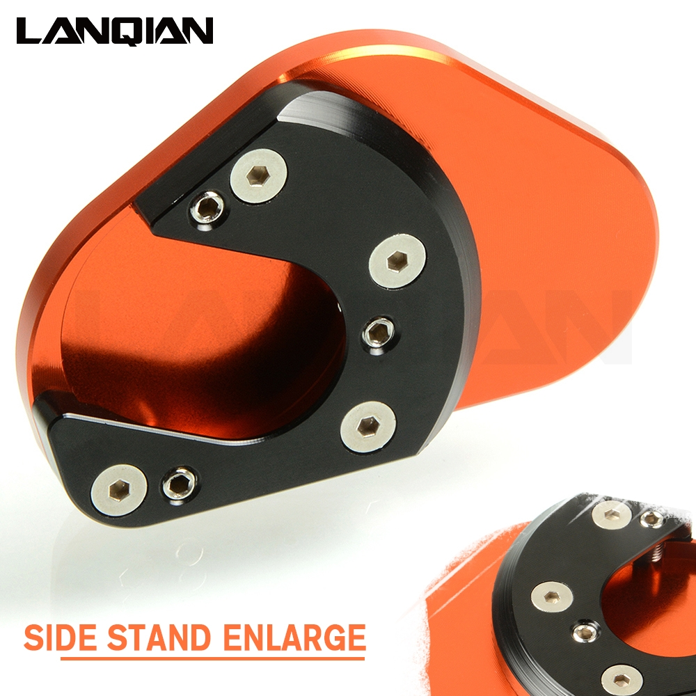 Kickstand Side Stand Plate Extension For KTM DUKE 125 200 390 990 1190 Adventure Husqvarna 701 950 Super Enduro/SM 2001- 2011 image