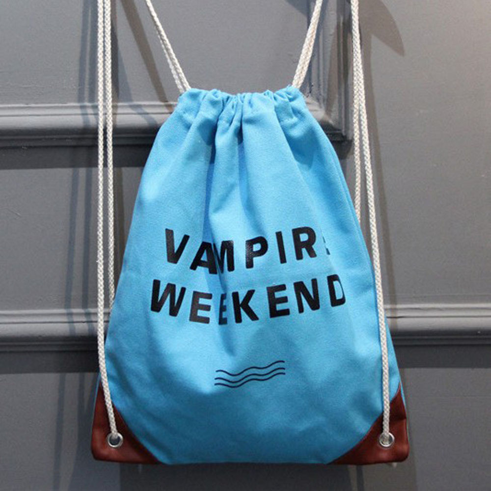 Drawstring Bag Prints Letters Weekend Women Shopping Storage Package Teenagers School Bags sac a dos garcon 2017 New