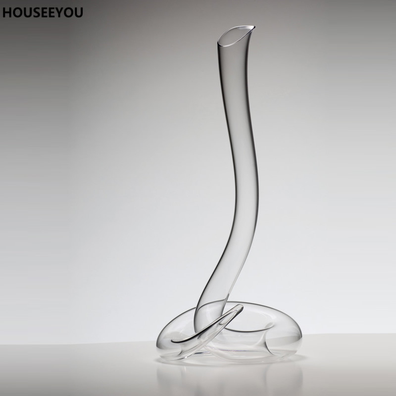 Healthy Lead free Crystal Glass Decanter Wine Decanter Handmade Mouth Blown Transparent Glass Barware Supplies Kitchen