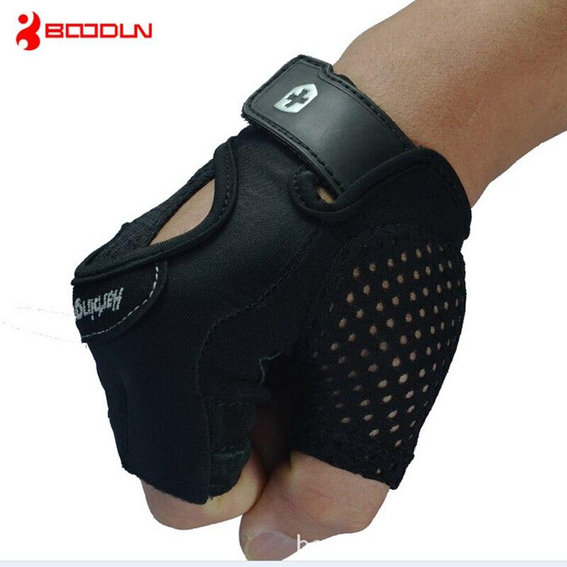 Cheap Fitness Gloves: Boodun Sport Riding Half Finger Gloves Breathable Lycra
