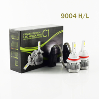 1 Pair 60W 9004 6000LM Super Power Car LED Headlight Lampadine Kit Singolo Fascio Auto Faro