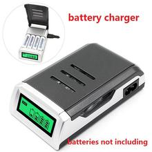 Yiwa LCD Display 4 Slots Intelligent Battery Charger for AA /AAA Rechargeable Batteries Supplies