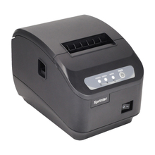 E-EMSFreeshipping XP-Q200II pos 80mm impresora térmica de recibos impresora de Alta calidad máquina de corte automática USB + RS232 interfaz