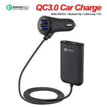 QC 3.0 Car Charger for Mobile Phone Charge In The Car Quick Charge 3.0 USB Car Charger for Honor Xiaomi Samsung Iphone Fast все цены