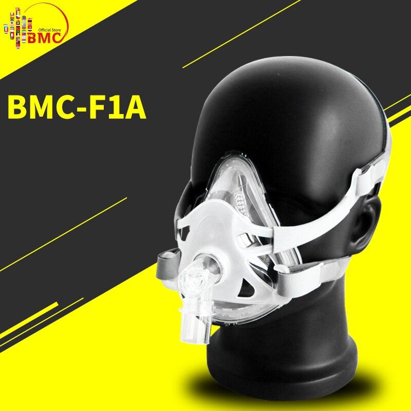 BMC F1A Volle Gesicht Maske Für Schnarchen Gelten für Medizinische CPAP BiPAP Silikon Gel Material Größe S/M/ L Mit Kopfbedeckungen Clip Freies Verschiffen-in Schlafen & Schnarchen aus Haar & Kosmetik bei  Gruppe 1