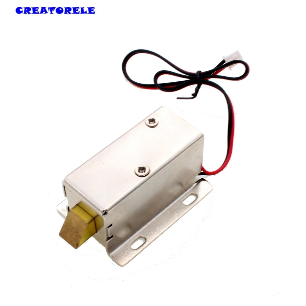 цена на DC 12V 8W Open Frame Type Solenoid for Electric Door Lock gallium metal neodymium magnet