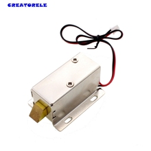 DC 12V 8W Open Frame Type Solenoid for Electric Door Lock gallium metal neodymium magnet 80 80mm large suction 200kg dc 5v 12v 24v big solenoid electromagnet electric lifting electro magnet strong holder cup diy 12 v