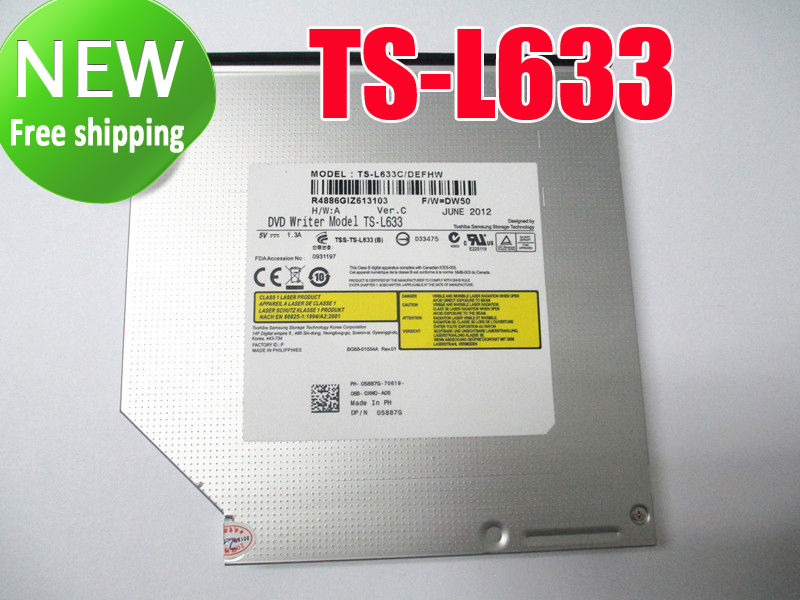 Dvd + rw cd + rw burner drive dvd writer modelo TS-L633 para computador portátil