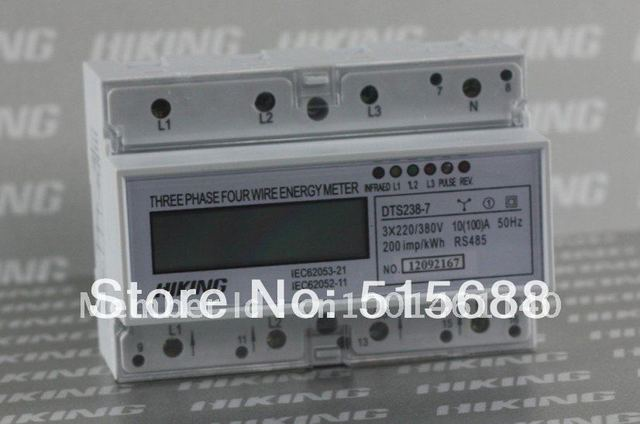 DTS238-7 100A  three phase four wire din rail type RS485-modbus energy meter