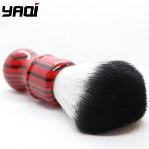 Image 5 - Yaqi רעה זברה 26mm קשר שחור ואדום ידית סינטטי שיער גילוח מברשת