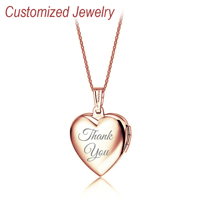 Personalized heart necklace love lovers gitfs rose gold plating personalized heart necklace love lovers gitfs rose gold plating pendant engraved name customized womens jewelry with aloadofball Gallery