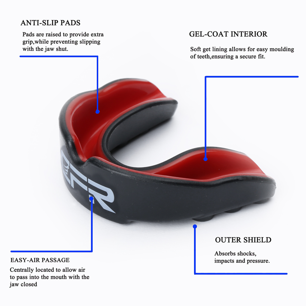 CFR 1pc Boxing Mundschutz Silikon Mundschutz Gum Schild Fußball Basketball Martial Taekwondo Sport Sicherheit Zähne Protector