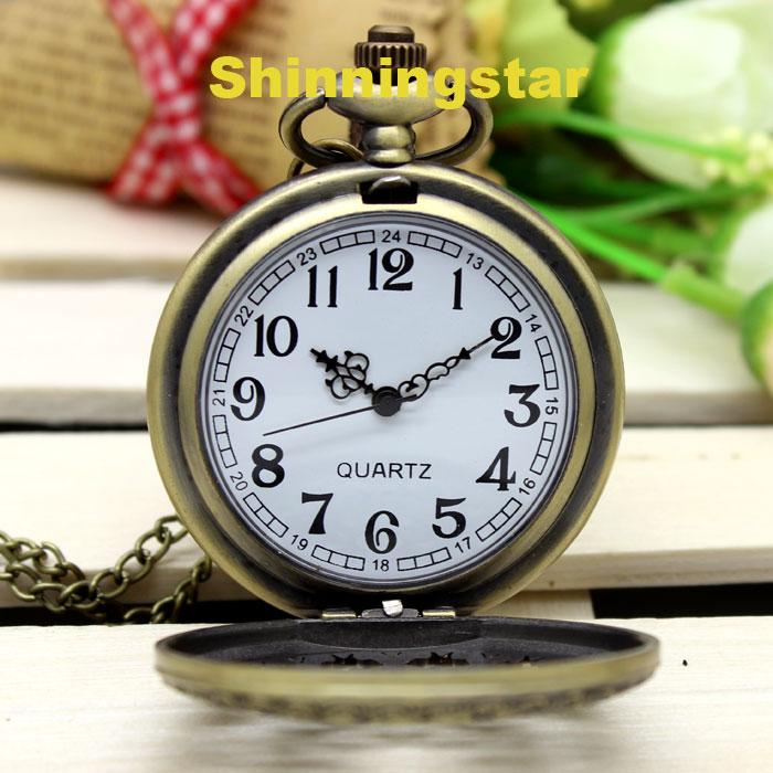 Brązowy Pająk Web Hollow Naszyjnik Mężczyzna Vintage Zegarek - Zegarki kieszonkowe - Zdjęcie 6