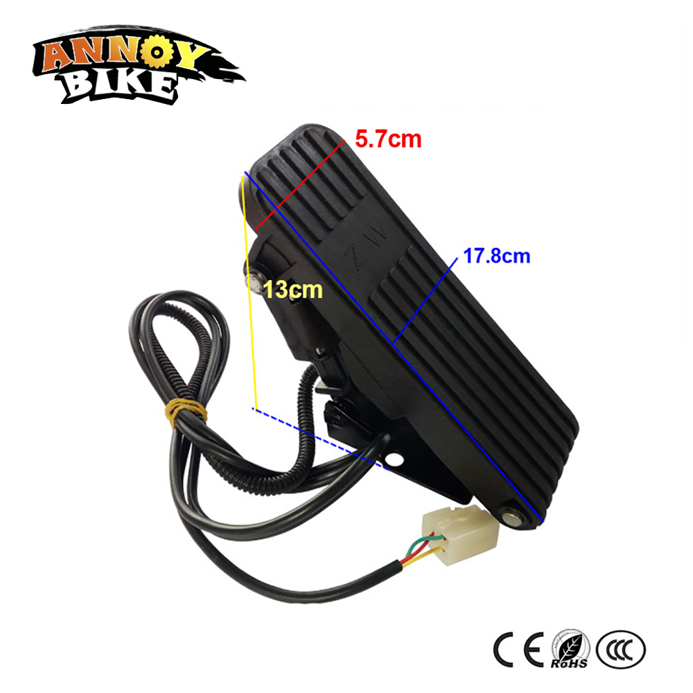 Electric Tricycle Foot Throttle Electric Scooter Foot Pedal Accelerator Pedal,Speed Control Bicycle Gas Pedals Accelerator цена