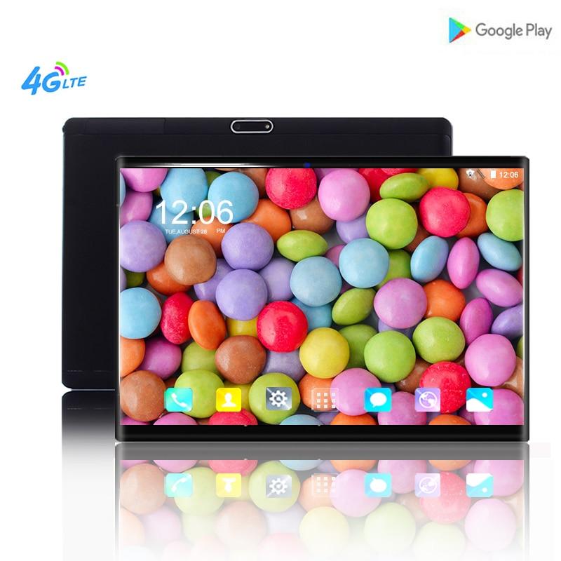 2019 novo 6 + 64 gb 1920*1200 ips tablet pc 10 polegada núcleo android 8.0 duplo cartão sim câmera 8mp wifi bluetooth comprimidos inteligentes telefone