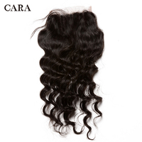 6x6 Lace Closure Bleached Knots Loose Wave Closure Brazilian Human Virgin Hair Pre Plucked With Baby Hair Free Part CARA