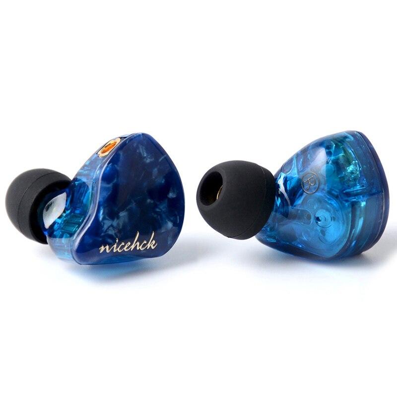 NICEHCK P3 en el auricular del oído 2BA + 1DD híbrido 3 Unidad HIFI auricular auriculares Monitor IEM 3 Crossover CNC placa frontal MMCX Cable desmontable