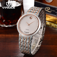 VINOCE Brand Stainless Steel Lovers Watches 2019 Brand Business Quartz Watch Men And Women Casual Couples Wristwatches 633253