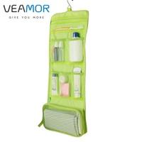 Travel Hotel Travel Portable Folding Collar Hook Hanging Toiletry Kits Cosmetic Bag B177