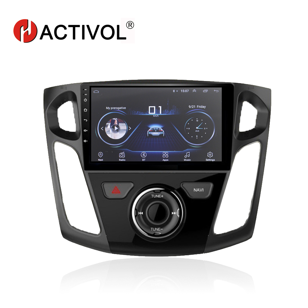 """HACTIVOL 9"""" 1024*600 Quadcore android 8.1 car radio gps navi for Ford Focus 2012 2017 car DVD player with 1G RAM 16G ROM-in Car Multimedia Player from Automobiles & Motorcycles    1"""