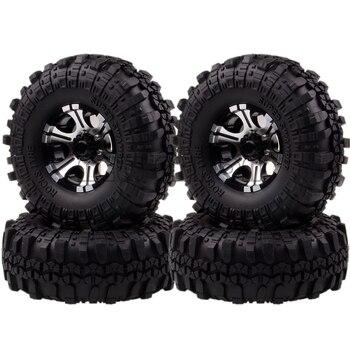 """NEW ENRON 4P 1.9"""" Metal Wheel Rims & 110MM Tyre Tires RC CAR Rock Crawler RC 1/10 HSP 1:10 Axial SCX10 SCX10 II 90046 90047"""