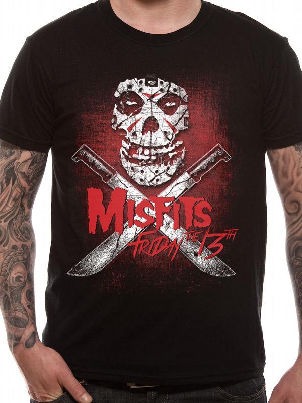 Fashion Funny Tops Tees Misfits Friday 13Th Mens T-Shirt Licensed Top Black 2XL Mens Shirts Men Clothes Novelty Cool