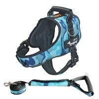 Ondoing Large Dog Harness K9 Leashes Set Police Dog Training Harness Collar Set For Big Or