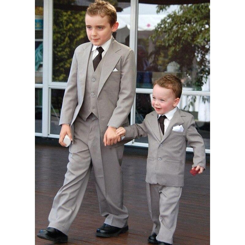 481af8c7bd0 Classic Boys Suits for Wedding Grey Boys Formal Suit Costumes for Boys Kids  Tuxedo Children s Blazer