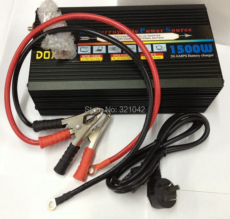 цена на hot selling Universal Auto Modified Wave Power Inverter 1500W DC24V to AC220V UPS inverter With 20A Charger