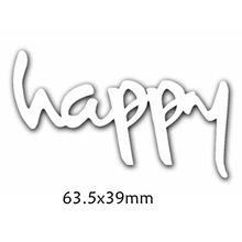 Happy Words Metal Cutting Dies DIY Scrapbooking Embossing Paper Cards Making Crafts Supplies New 2019 Diecut