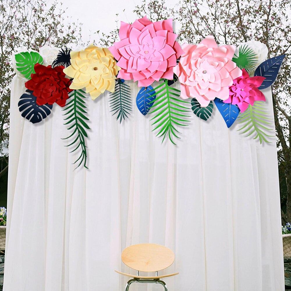 20cm 60cm Giant Paper Flowers Party Wedding Decor For