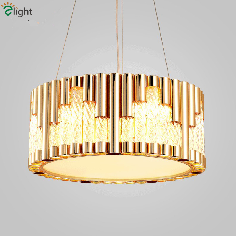 Post Modern Round Led Pendant Light Dining Room Plate Gold Suspend Lamp Lustre Led Luminaria Lamparas Indoor Lighting Fixtures post modern resident gold led tri