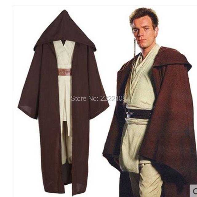 2017 New Star Wars David Kabel Costume Jedi Knight Cosplay Costume Anakin Costume Obi Wan Kenobi Halloween Hooded Cloak Robe
