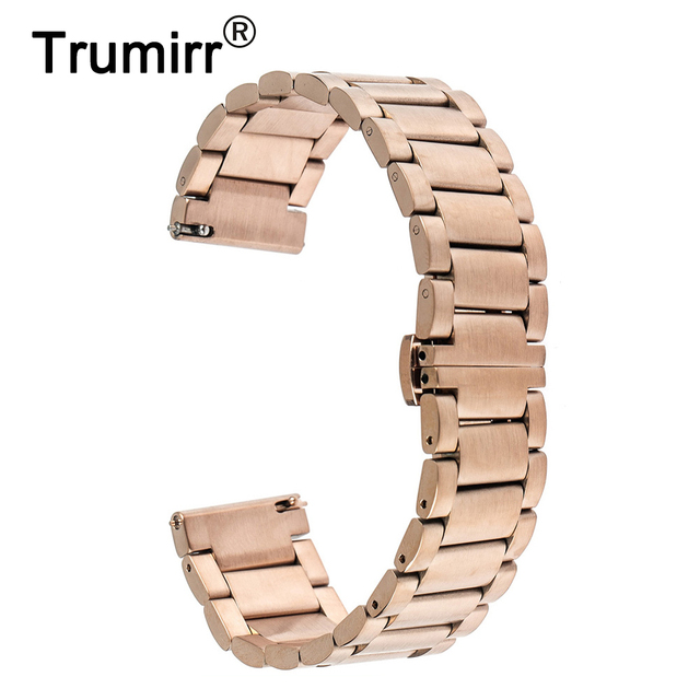 45f4d18b986 16mm 20mm 22mm Quick Release Watch Band for Armani Stainless Steel Strap  Butterfly Buckle Bracelet Black Rose Gold Silver