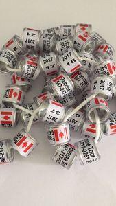 Los anillos de aluminio y plástico 2020 2021 pueden diseñar su nombre del número de teléfono anillo para patas de aves anillo Paloma