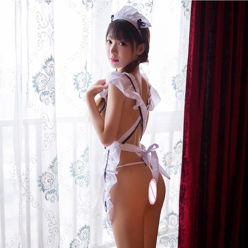 Adult erotic lingerie feminine transparent maid uniform temptation cute cute maid apron suit sexy uniform role playing sex game