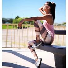 New Fitness Sport Leggings Women Knit Printing High Waist Legins Femme Girls Yoga Workout Pants Push Up Elastic Slim Pants цены