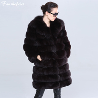 Fanshefeier winter thick on warm fur coat Stand collar Luxury Women's Clothing natural blue Fox Fur animal imitate Sable Color