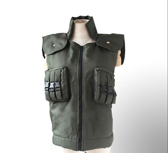 Hatake Kakashi Green Unisex Vest Cosplay Costume