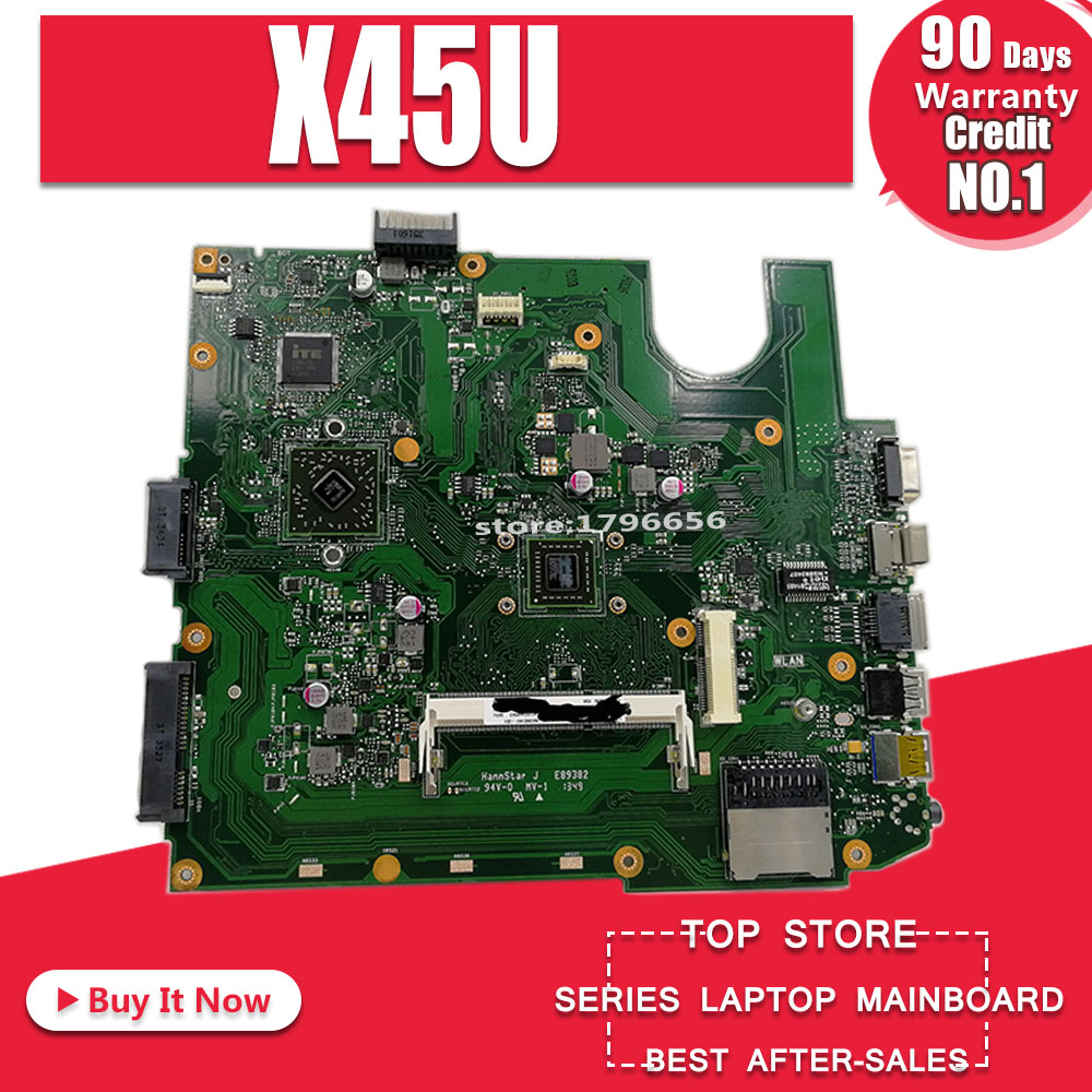 Original For Asus A45U K45U X45U Motherboard Mainboard With  REV 2.2 60-NAOMB1401-D01 60-NAOMB1502-B01 100% Tested Working