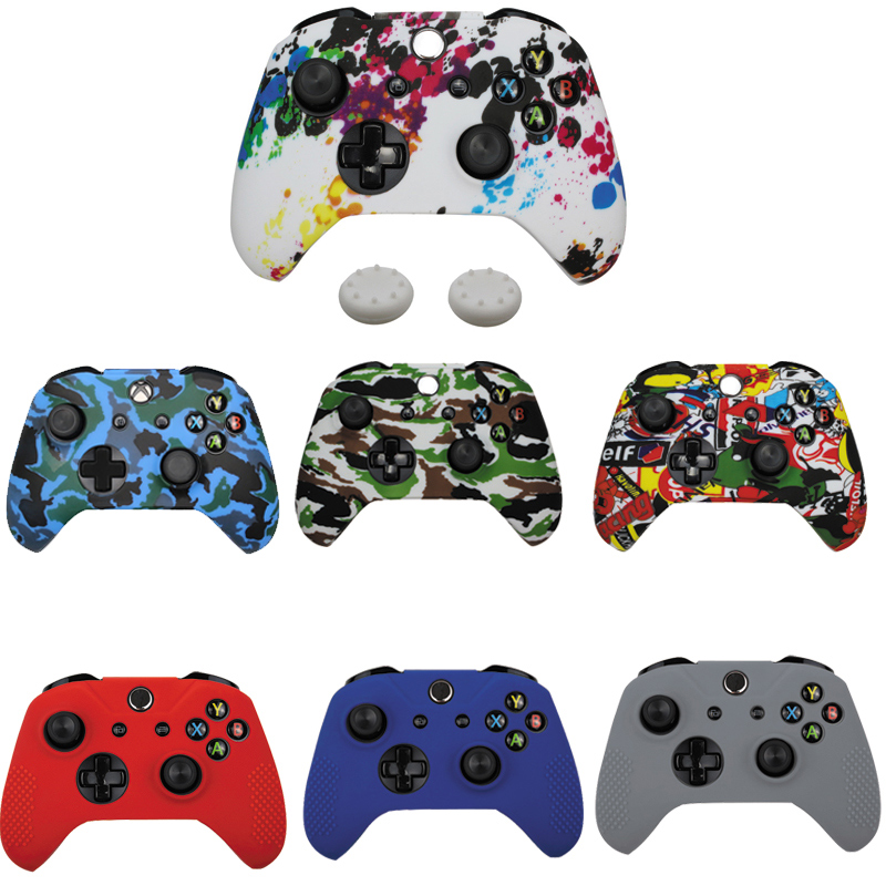 11 Colors Silicone Gamepad Protective Case Skin For XBox One Slim Controller Protector Camouflage Controle Cover Joystick
